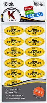 The Kosher Cook Passover Removable Stickers, 18k