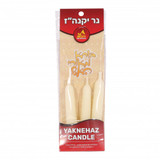 Ner Mitzvah Yaknehaz Beeswax Candle, 3pk