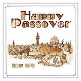 Cazenov Happy Passover Jerusalem Napkins, 20pk