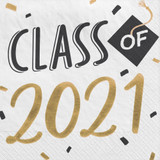 2021 Grad Hats Off! Hot Stamp Luncheon Napkins