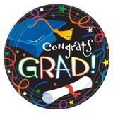 "7"" Colorful Grad Celebration Plates, 8 ct"