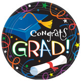 "9"" Colorful Grad Celebration Plates, 8 CT"