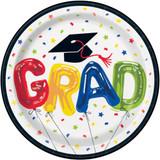 "7"" Graduation Paper Plates, 8 CT"