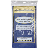 Navy Blue Plastic Tablecover 54X108