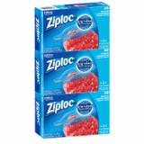 Ziploc Medium Freezer Bags, 3 packs of 60pcs