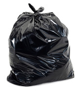 "Black Garbage Bags 26"" x 36"" (Extra Heavy) 100/cs"