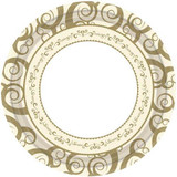 """10.25"""" Gold Medley Paper Plate 18 Count"""