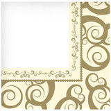 Gold Medley Lunch Napkin 40 Count
