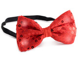 Sequin Bow Tie with flashing Lights