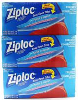 Ziploc gallon freezer bags 40ct 3pk
