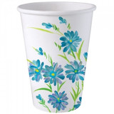 12 OZ Blue Floral Paper Cups 24 count