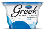 Original Greek Yogurt Line  the authentic recipe offers you the highest quality Greek yogurt,  guaranteeing that every spoonful you eat creates a taste bud explosion. Committed to using the freshest ingredients,  each cup of Original Nonfat Greek Yogurt contains at least 14 grams of protein with zero fat. Treat yourself to a cup of scrumptious healthy goodness!  Non fat Yogurt  2x Protein