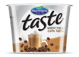 The Taste of a great Cafe Latte a Non Fat Yogurt can help get your day off to a great start!