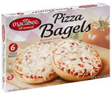 All Natural, With Mozarella Cheese and seasoned sauce, 6 pizza Bagels, rich in protein, macabee is so cheesy