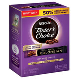 Taster's Choice Colombian Instant Coffee, 16 Single Serve Packets