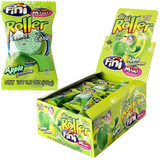 Unroll the fun - jumbo sour belt in awesome green apple flavor! Each POS display contains 40 pieces, 0.7oz/20g each. Sold by case only, 8 displays per case, 1.75lbs/800 g each display.