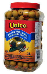 Unico Stuffed Manzanilla Olives, 2L