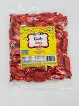 Zazers Foil Taffy Red Cherry Candy, 1lb