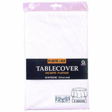 """84"""" ROUND WHITE LACE TABLECLOTH"""