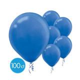 ROYAL BLUE LATEX BALLOONS 100PK