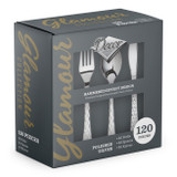 Glamour Silver Cutlery Combo - 120pcs.