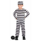 BOYS MISCHIEF MAKER PRISONER COSTUME (available in 5 sizes)
