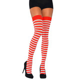RED & WHITE STRIPE THIGH HIGHES 1 SIZE