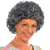 GRANNY CURLY WIG WOMEN 1 SIZE