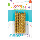 LARGE SPIRAL BIRTHDAY CANDLE 12PCS (available in 2 colors)