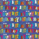 "5'X30"" BLUE BIRTHDAY GIFT WRAP 1 CT"