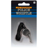POLICE WHISTLE WITH STRING