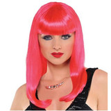 PINK ELECTRA WIG WOMEN 1 SIZE