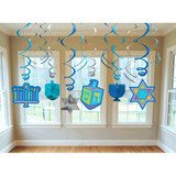CHANUKA SWIRL DECORATIONS