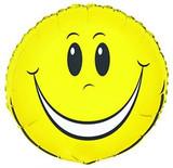 """18"""" FOIL SMILEY FACE BALLOON"""