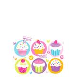 54X84 BIRTHDAY CUPCAKE TABLECLOTH