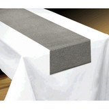 """13""""X72"""" METALLIC FABRIC TABLE RUNNER 1 CT (available in 2 colors)"""
