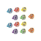COLORED COMPASS RINGS 12PK