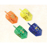 Amscan Translucent Dreidels Assorted Colors, 4pk