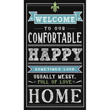"""28x4"""" """"Welcome"""" Party Napkins 16pk"""