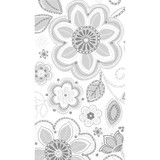 """8"""" x 4"""" Silver Embroidery Guest Paper Towels 16 Ct"""