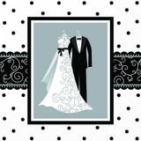 Elegant Black & White Wedding Luncheon Napkins 192 Ct
