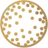 GOLD CONFETTI DOTS COASTER 18PK