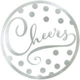 """Cheers"" SILVER COASTER 18PK"