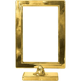 "4""X6"" GOLD GLOSS TABLE FRAME 1 CT"