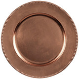 """14"""" ROSEGOLD METALLIC CHARGER PLATE"""