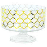 40oz Gold Hot Stamped Trifle Plastic Container