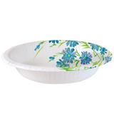 Blue Floral Paper Bowl 20 oz.  - 24 count