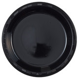 "10"" Black Plastic Plates (50 Count)"