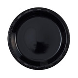 "9"" Black Plastic Plates (50 Count)"