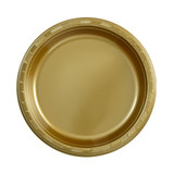 "9"" Gold Plastic Plates (50 Count)"